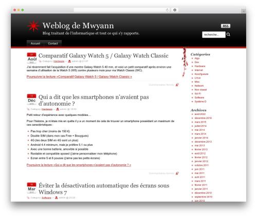 Stardust WordPress blog theme - mwyann.fr