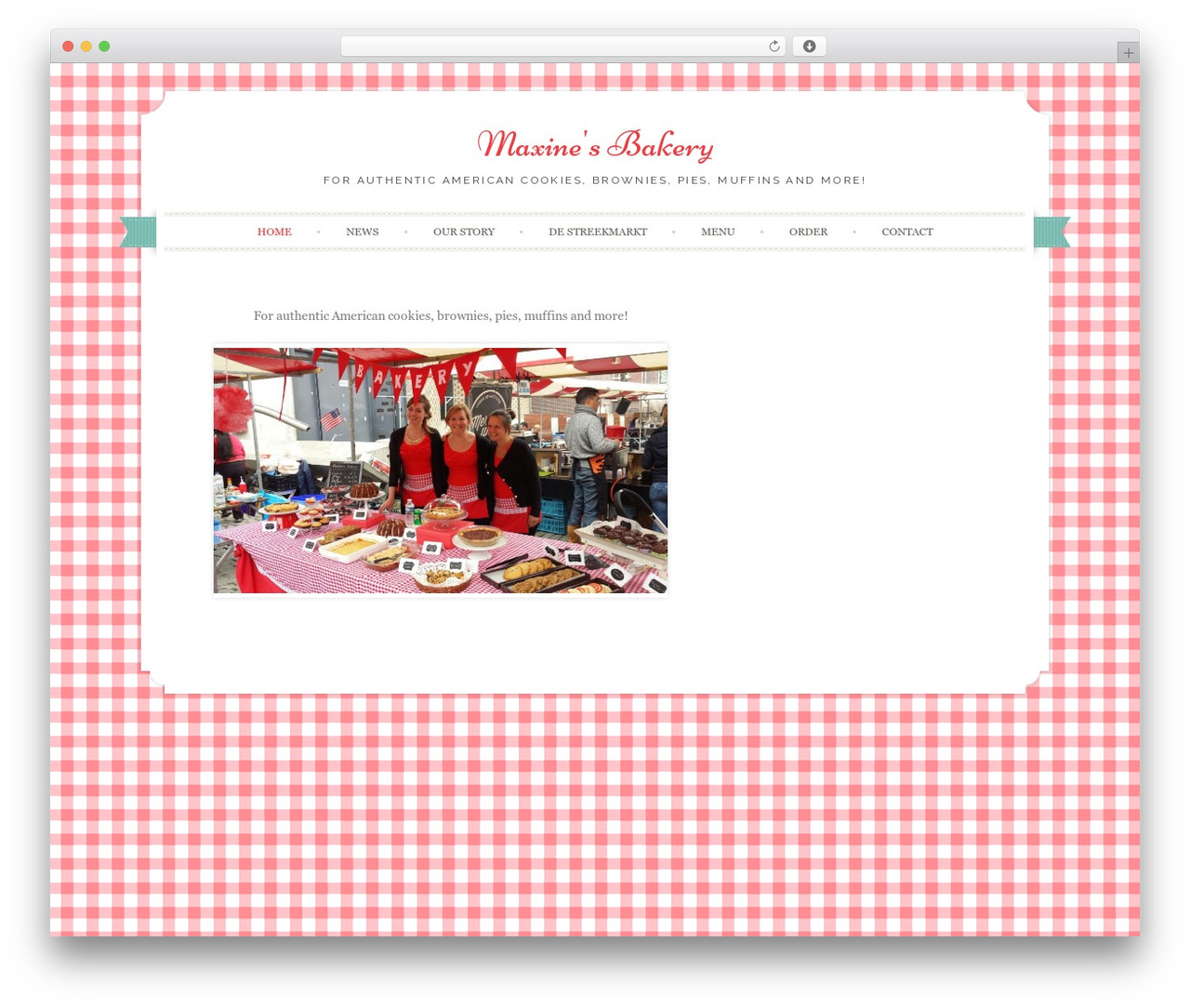 Sugar and Spice WordPress website template - maxinesbakery.nl
