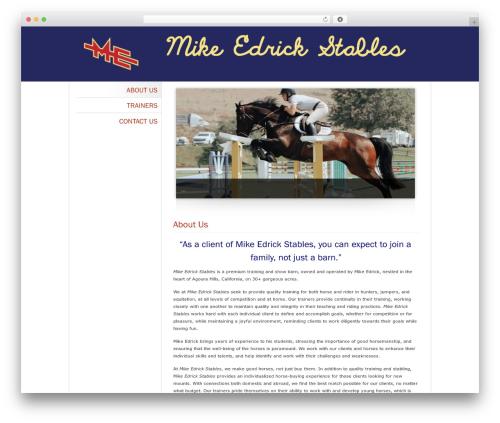 Theme WordPress Classic Theme 3 - mikeedrickstables.com