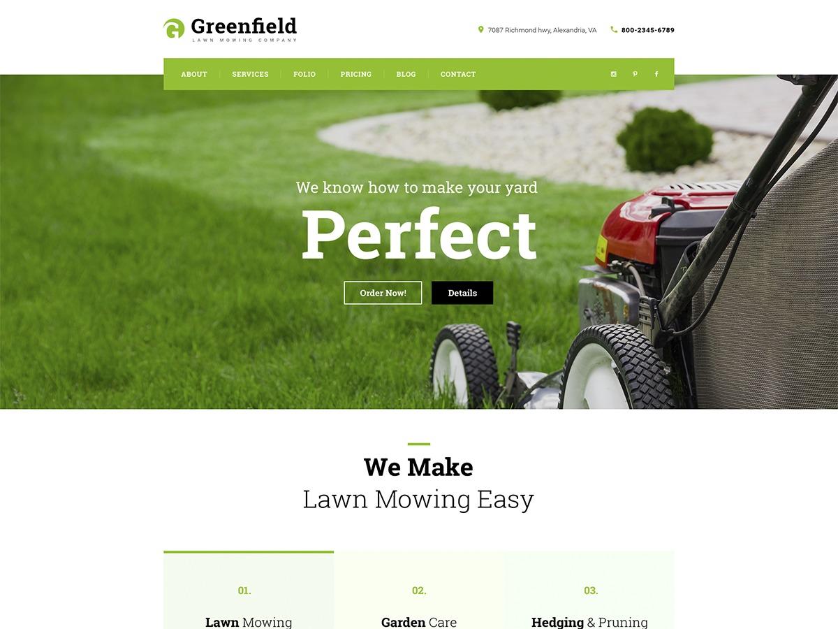 WordPress theme Greenfield
