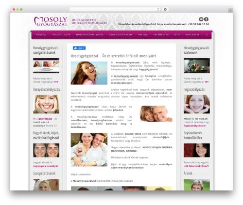 Alyeska WordPress theme design - mosolygyogyaszat.com