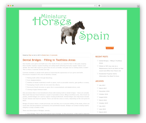 ArtSee theme WordPress - miniature-horses-spain.com