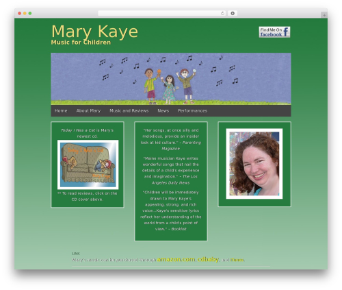 Best WordPress theme Gridiculous - marykayemusic.com