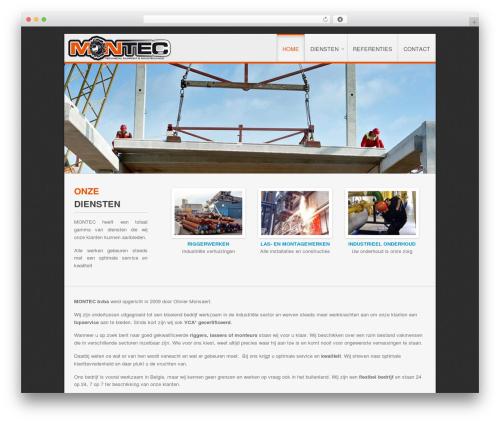 Clarion WordPress theme design - montec.be