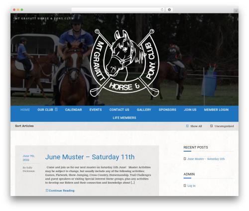Equestrian WordPress page template - mtgravattponyclub.org.au