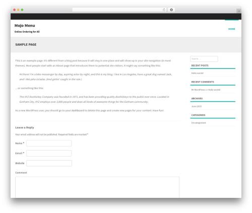 Formation best free WordPress theme - mojomenu.com