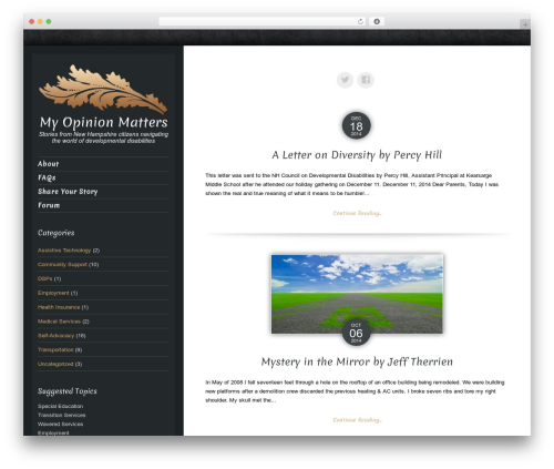 Luminescence Lite free WordPress theme - myopinionmattersnh.com