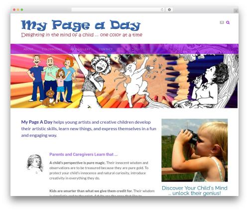 Panoramic template WordPress free - mypageaday.com