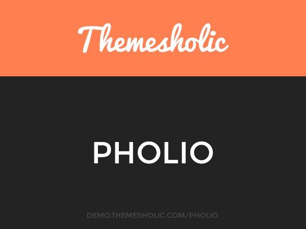 Pholio theme WordPress portfolio