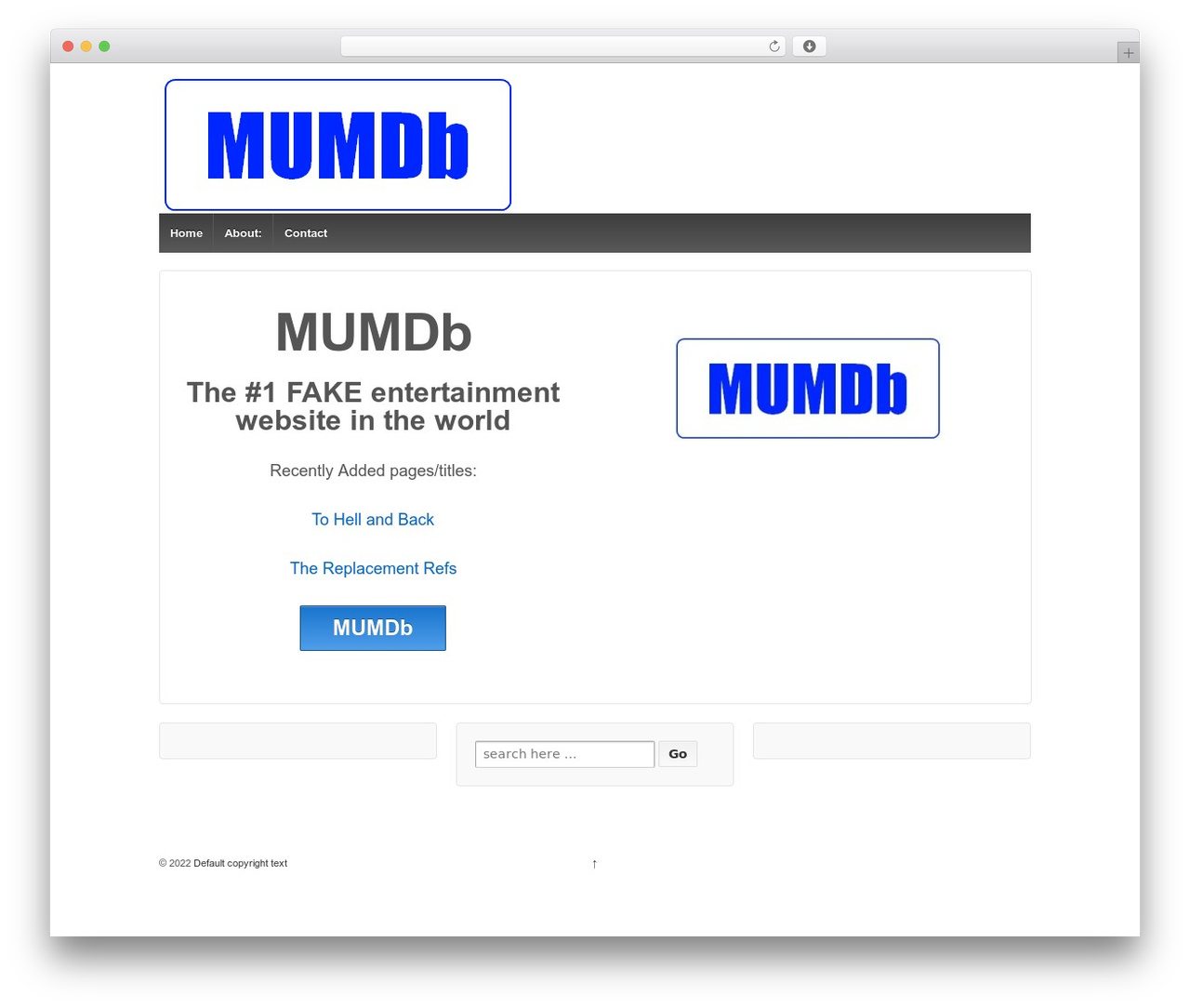 Responsive free WordPress theme - mumdb.com