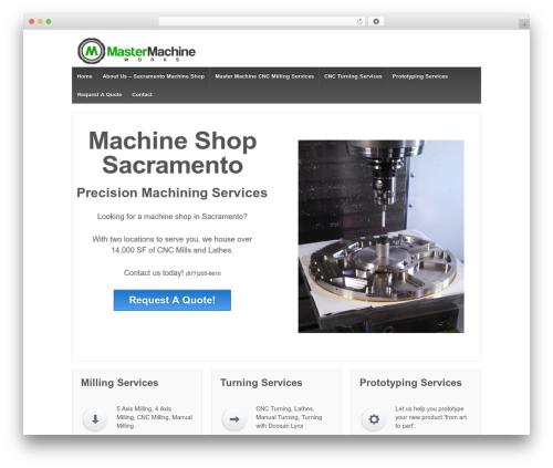 Responsive template WordPress - machineshopsacramento.com