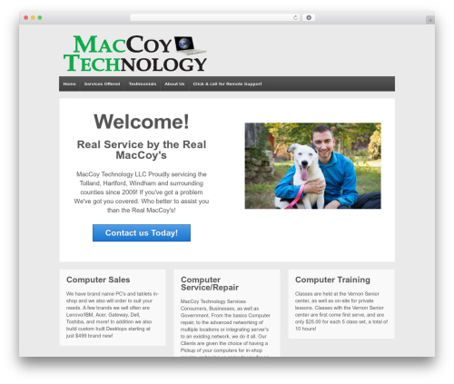 Responsive theme WordPress free - maccoytechnology.com