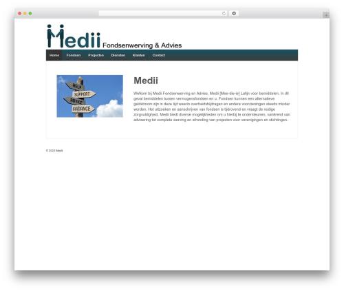 Responsive WordPress theme free download - medii.nl