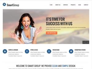 Smartgroup (Share on Theme123.Net) company WordPress theme