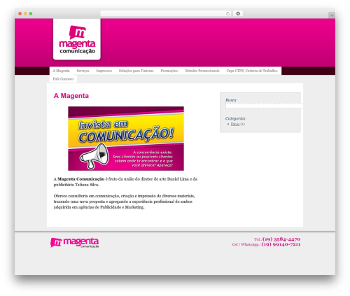 Template WordPress Thematic - magentagrafica.com.br