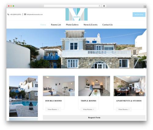 Veda premium WordPress theme - mykonosvoula.com