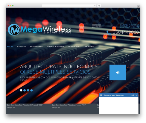 WordPress theme cherry - megawireless.co