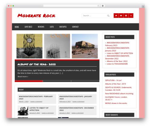 WordPress theme Dynamic News - moderaterock.com