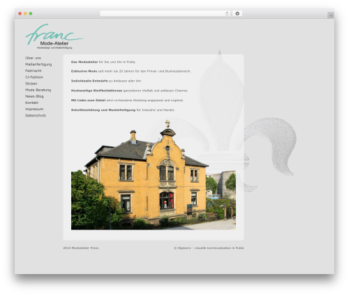 WordPress theme Exprecious - modeatelier-franc.de