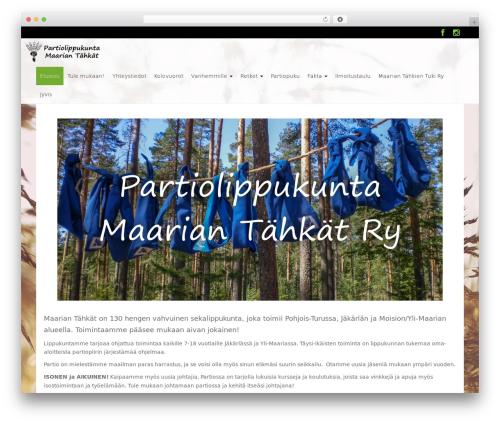 WP RootStrap best free WordPress theme - maariantahkat.fi