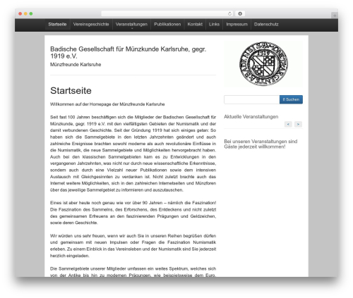 Activetab theme WordPress - muenzfreunde-karlsruhe.de