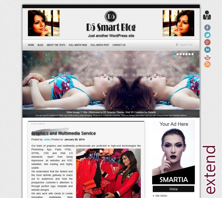 D5 Smartia Extend WordPress blog template