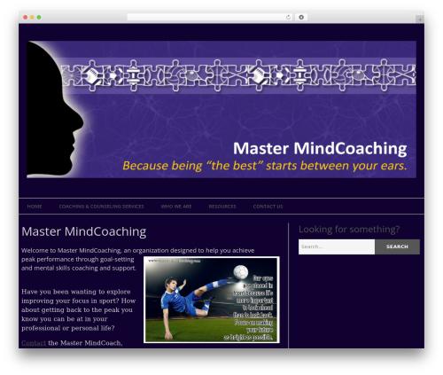 Epic WordPress website template - master-mindcoaching.com