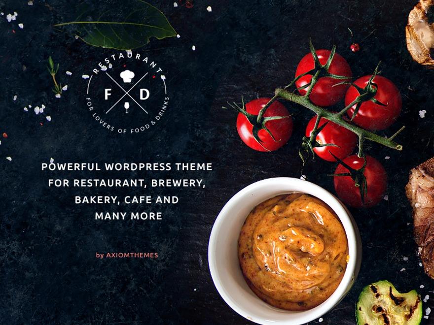 FDRestaurant WordPress restaurant theme