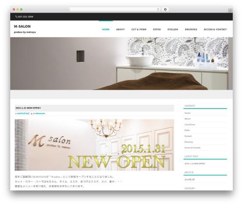 Formation free website theme - m-salon.jp