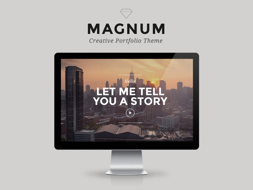 Magnum personal blog WordPress theme