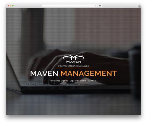 Maven best WordPress template - mavenmgmtllc.com
