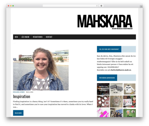 MH Newsdesk lite template WordPress free - mahskara.se