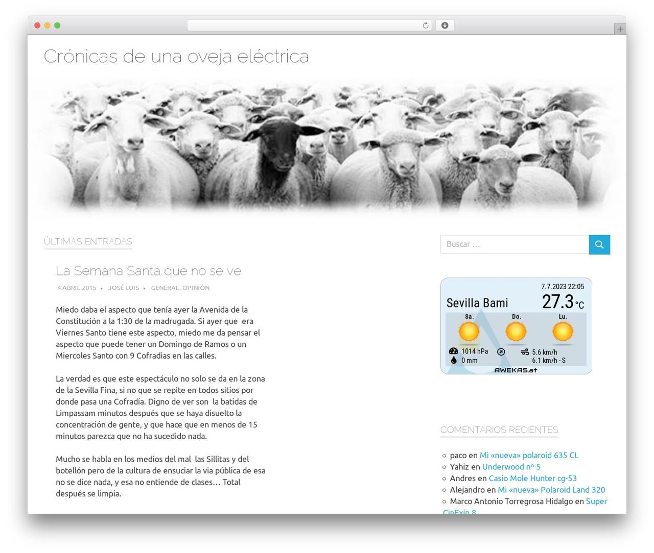 Poseidon WordPress template - murillo.es