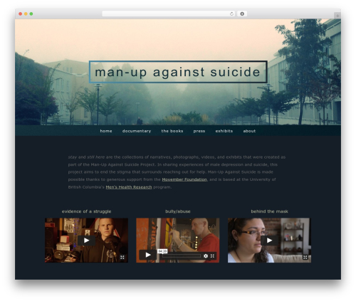 Stay WordPress website template - manupagainstsuicide.ca