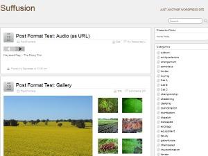 Suffu-scion WordPress page template