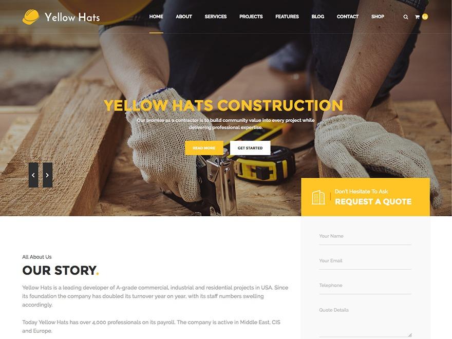 Template WordPress WP Yellow Hats