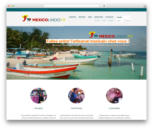The Retailer WordPress website template - mexicolindo.fr