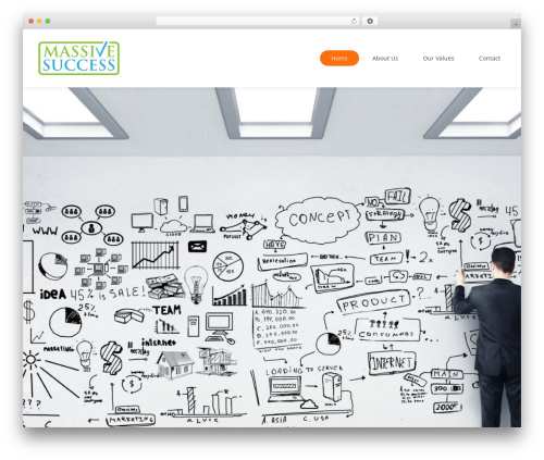 WordPress website template Ohmy - massivesuccessinc.com