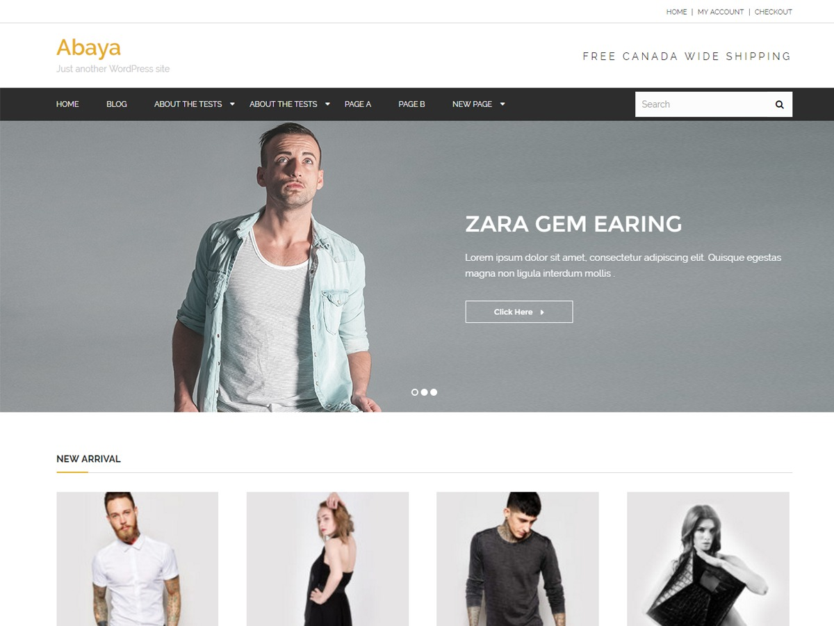 Abaya theme WordPress free
