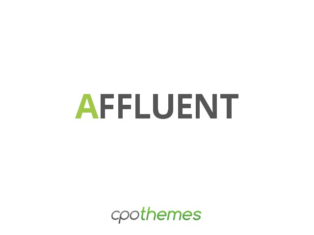 Affluent Pro company WordPress theme