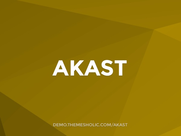 Akast premium WordPress theme