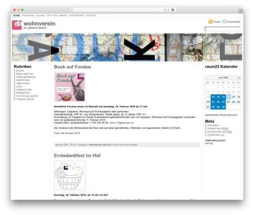 Atahualpa WordPress template - wohnverein.ch