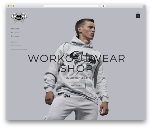 Aurelia WordPress theme design - workoutwear.com.ua