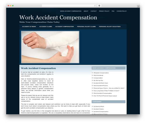 Best WordPress template Company Style Blue - workaccidentcompensation.co