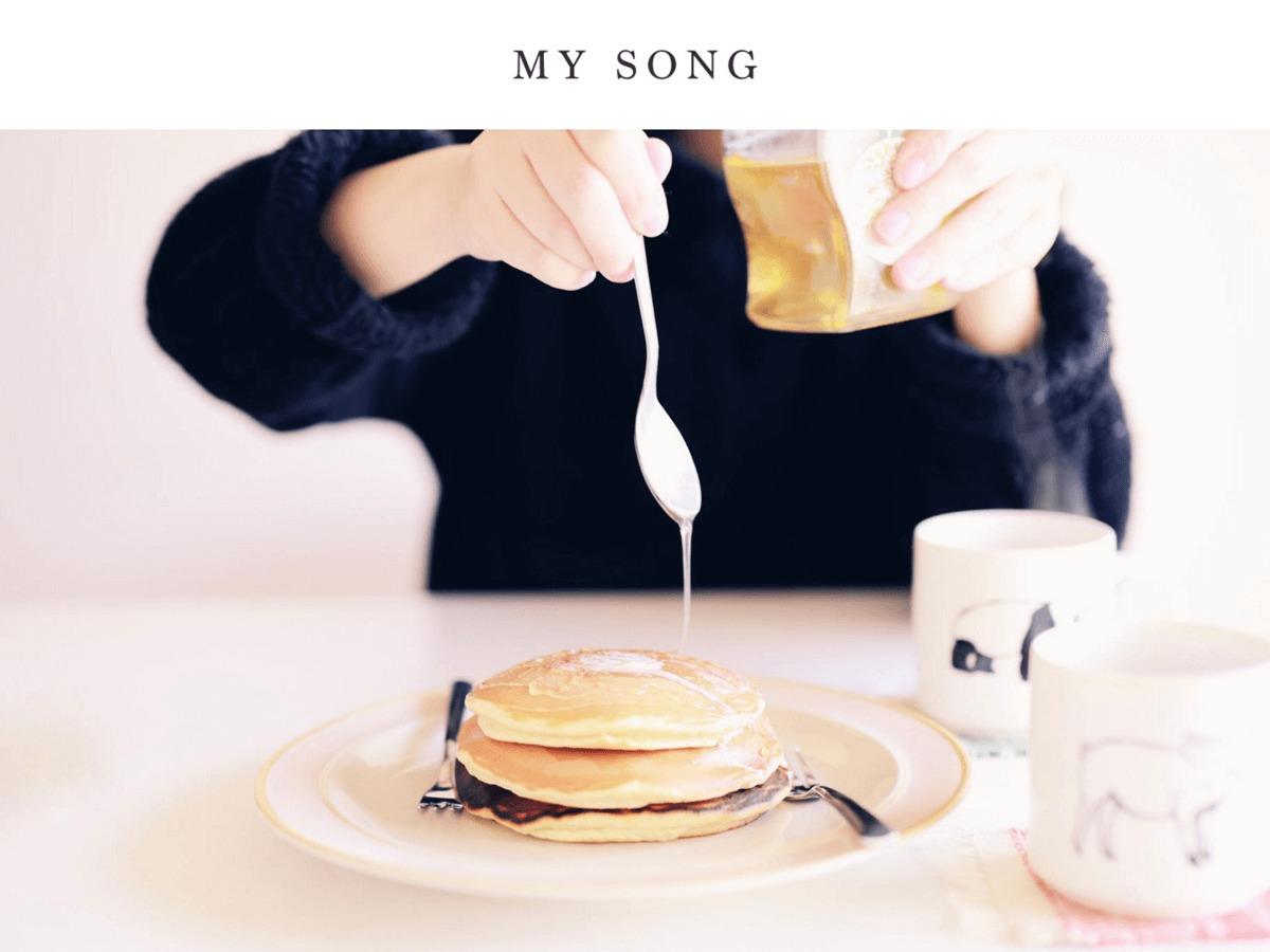 Best WordPress template My Song