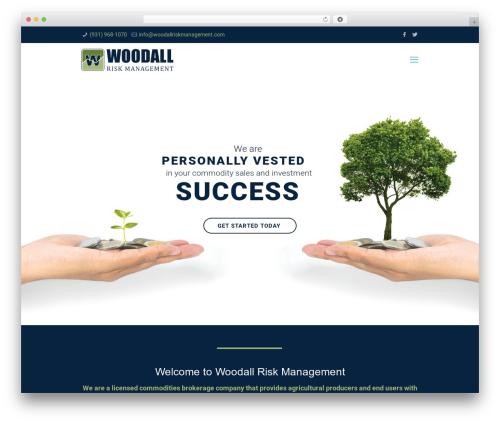 Betheme personal blog example - woodallriskmanagement.com