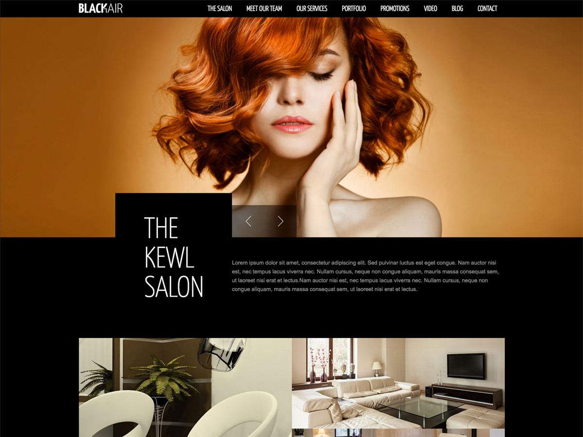 blackair top WordPress theme