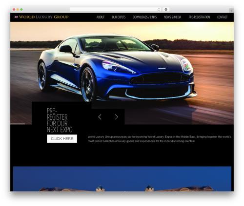 blackair WordPress theme - world-luxury-group.com