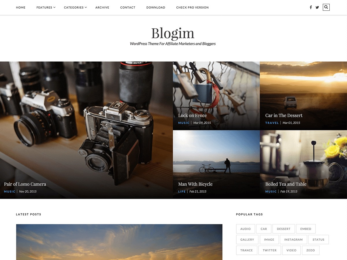 BlogIM free WP theme