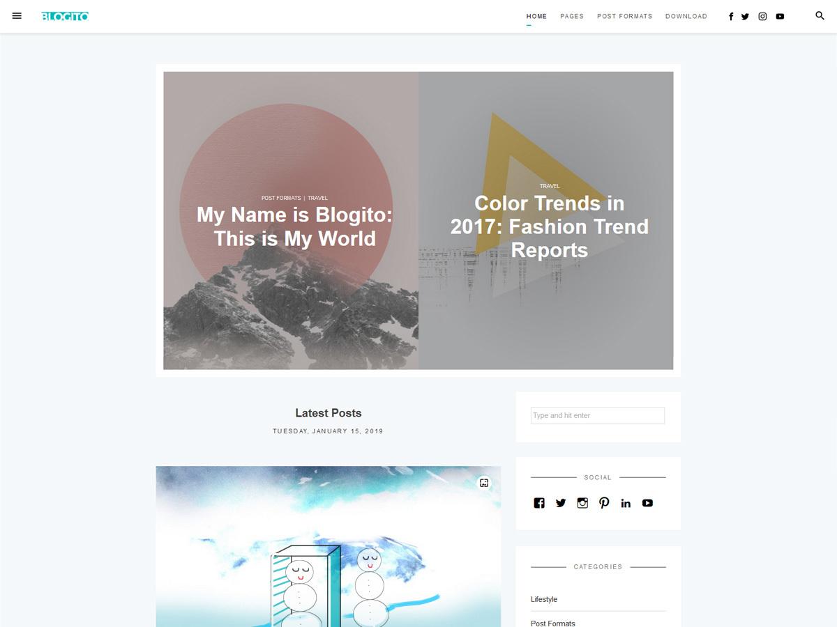Blogito newspaper WordPress theme